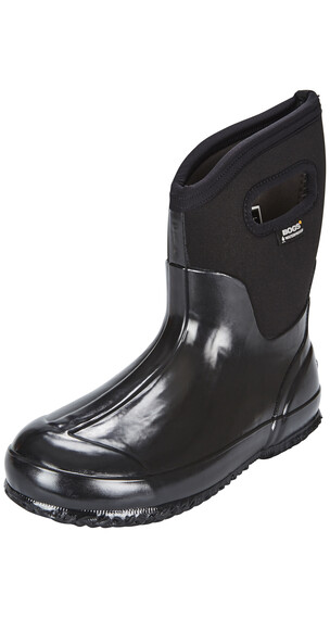 Bogs Classic Mid Rain Boots Women black shiny